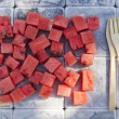 Watermelon cubes — Stock Photo #47852971