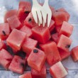 Watermelon cubes — Stock Photo #47853813