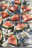 Tranches de melon d'eau — Photo