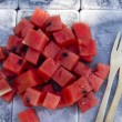 Watermelon cubes  — Stock Photo #47887831