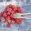 Watermelon cubes — Stock Photo #47887921