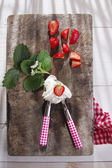 Strawberry with cream  — Foto de Stock
