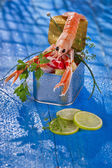 Crustacean in blik — Stok fotoğraf