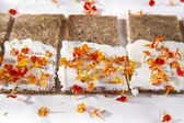Sandwich of bread and cheese  — Stock Photo