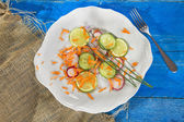 Radish and cucumber salad  — Stock Photo