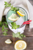 Glass of drink made from mint  — Stock Photo