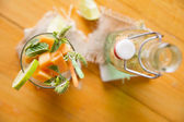Mint and melon appetizer  — Stock Photo