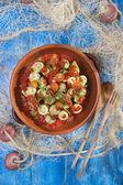 Rodillo con carne de cangrejo — Foto de Stock