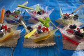 Panna cotta with berries  — Stock Photo
