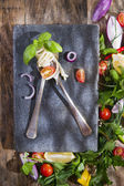 Pici, handmade spaghetti  — Stock Photo