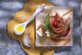 Spaghetti with garlic, oil and chili  — Stock Photo