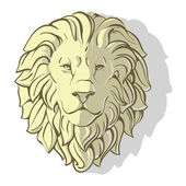 Head of lion shadow — Stock Vector