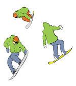 极端滑雪 — 图库矢量图片