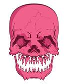 Aggressive skull — Stock Vector