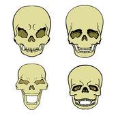 Set of skulls — Stock Vector