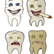 Rotten and strong teeth - Imagen vectorial