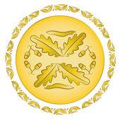 Oak golden ornament — Stock Vector