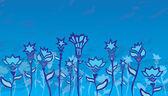 Цветы в поле — Cтоковый вектор