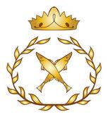 герб королевской рыбы — Cтоковый вектор
