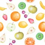 Seamless fruit background — Stock Photo #24444985
