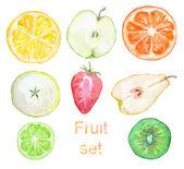 Set of fruit — Stock Photo