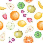Seamless fruit background — Stock Photo