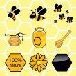 Stock Vector: Icons set honey