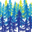 Stock Vector: Background forest