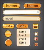Gold interface — Stock Vector