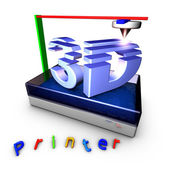 3D Printer using photopolymerization — Stock Photo