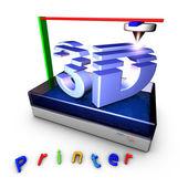3D Printer using photopolymerization — Stock Photo