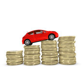 Cost of purchasing and maintaining a car — Stock Photo