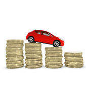 Reducing cost of purchasing and maintaining a car — Stock Photo