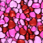 Several stacked hearts of all colors background — Stock Photo