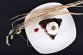 Decorated Chocolate cake — Stock Photo
