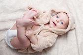Retrato de um lindo bebê — Foto Stock