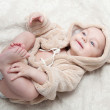 Portrait of a beautiful baby — Stock Photo