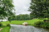 Boat moored on the Lancaster Canal, England — Stock Photo