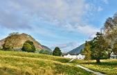 Helm Crag viewed from Grasmere, on a summers day. — Stock Photo