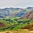 Langdale, with Bowfell and Crinkle Crags — Stock Photo
