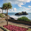 Ornamental garden in Tenby, Wales. - Stock Photo