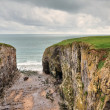 Raming Hole, a coastal feature in Pembrokeshire. - Stock Photo
