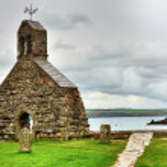 St. Brynach's Church, Cwm-yr-Eglwys, Wales. — Stock Photo