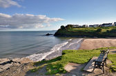 View of Aberporth Beach, Ceredigion, Wales. — Stock Photo