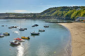 View of Boats at New Quay, Ceredigion, Wales — Stock Photo