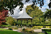 Bandstand in gardens, Grange-Over-Sands, Cumbria — Stock Photo