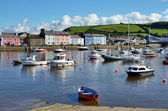Boats in Aberaeron harbour, Ceredigion, Wales. — Stock Photo