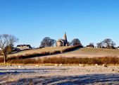Holy Trinity Church Bardsea in a frosty morning — Stock Photo