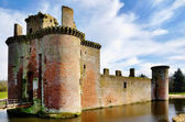 Caerlaverock Castle and moat. — Stock Photo