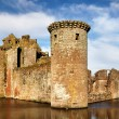 South west tower at Caerlaverock Castle - Stock Photo